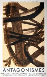 Pierre Soulages - Antagonismes, 1960 - Original Lithographic Poster