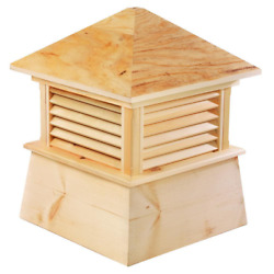 Good Directions Cupola 14 In. X 18 In. Weather Resistant Louvered Wood Brown