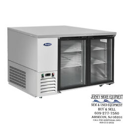 New - Mbb48ggr Andndashatosa Glass Door Bar Coolers Commercial Kitchen Ss Inside And Out