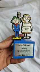 6 Andy Capp 1972 Newspaper Comic Trophy Vintage Aviva Greatest And039usband