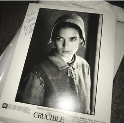 Winona Ryder Signed Autograph Incredibly Unique 8x10 Crucible Full Signature