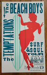 Hatch Show Print Poster - The Beach Boys The Temptations Surf And Soul Tour 2016
