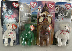 Ty Beanie Baby - Mcdonaldandrsquos International Bears Full Set - Mint And In Package