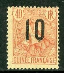 Guinee 1912 Guinea French Colony 10andcent/40andcent Scott 61 Mint H987