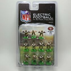 New Nfl Electric Football Action Figures San Francisco 49ers White Tudor Games