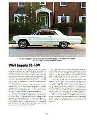 1964 Chevy Impala Ss 409 Article - Must See