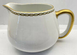 Haviland And Co. Limoges Large Water Pitcher Gold Trim 5.5andrdquo Tall 7andrdquo Wide Exc Cond