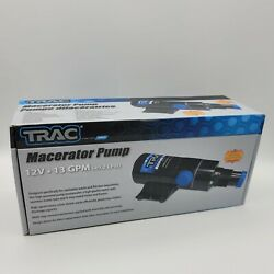 Trac Outdoors 69390 Macerator Pump 12v 13gpm For Sanitation Waste And Fish 69390