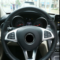 Abs Chrome Steering Wheel Decorate Frame Cover For Mercedes Benz C E Class 08-15