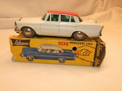 Schuco Micro Racer 1038 Mercedes 220s Wind Up In Box Working Vintage Germany