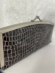 60andrsquos/70andrsquos Vintage Alligator/snake Embossed Pvc Wallet