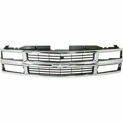 New Grille With Composite Headlights Fits 1994-1999 Chevrolet C1500 Gm1200238