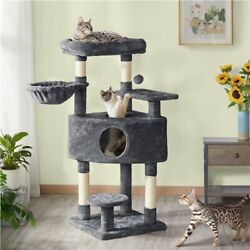 Cat Tree Cat Tower with Large Condo Scratching Posts Activity Tower Indoor Cat