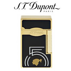 St Dupont Cohiba 55th Anniversary Le Grand Black And Gold Lighter - Soft And Jet Fla