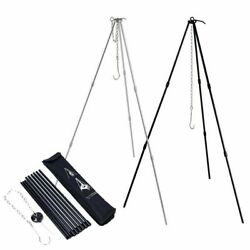 Camping Bonfire Tripod Portable Triangle Support For Hanging Cookware Pot Grill