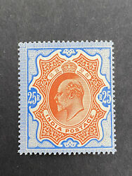 India 1902 Sg 147 Kevii 25 R, Mh Stamp
