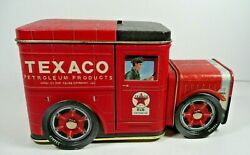Red Tin Truck Texaco Cheerful Driver Licensed Product Bank Wheels Move
