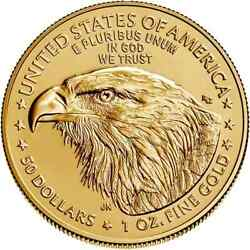 American Eagle 2021 Gold One Half Ounce Confirmed Order Type 2
