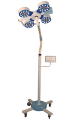 Shadowless Led Operation Theatre Surgical Light Mobile 3 Reflector 90k Lux