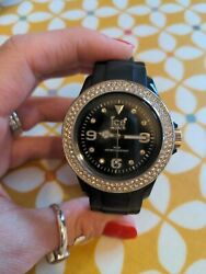 Ladies Ice Watch Black Very Good Condition [needs A New Battery]