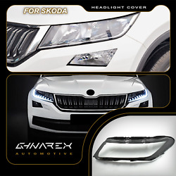 For Skoda Kodiaq Ns7 2017-2020 Headlight Lens Replacement Cover Left+right