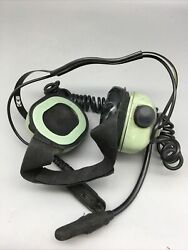 David Clark Behind The Head Headset H6240-51 For Parts Untested E43