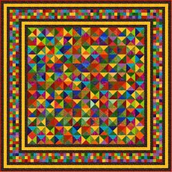 Jelly Beans - 115 X 115 - Quilt-addicts Precut Quilt Kit Large King