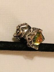 Trollbeads Laa Sterling Silver Dichroic Glass King And Queen Bead Rare