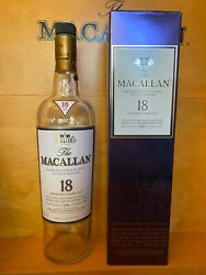 1996 The Macallan 18 Year Old Whisky Bottle And Purple Box Set