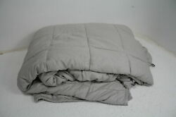 Luna Weighted Blanket 25 Lbs Queen King Size 100 Cooling Cotton And Glass Beads