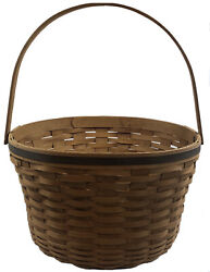 Huge 2007 Longaberger Handmade Round Basket Signed Made In Usa 27 Inches Across