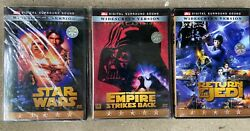 Rare Star Wars Five Star Collection Enhanced Special Edition Complete 3 Set Dvd