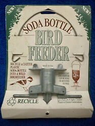 Soda Bottle Bird Feeder Cast Zinc Adapter Hung Or Pole Mounted Made In Usa New