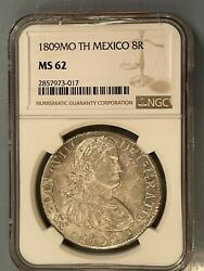 1809 Mexico Ferdinand Vii 8 Reales Ngc Ms62 Mo-th Colonial Silver