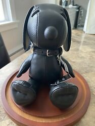 """Nwt Coach X Snoopy Peanuts 7"""" Black Leather Doll Limited Edition Very Rare Wdome"""