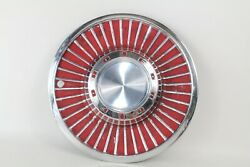 Vintage Ford 1960s 14 Hubcap Hub Cap Various Models Oem Chrome And Red