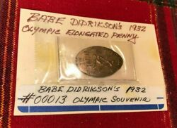 1932 Olympic Games Babe Didrikson Zaharias Elongated Cent Golf Ball Marker Bgzgf