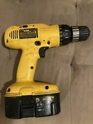 Dewalt 18v Cordless Drill Model Dw958 With Dc9096 Battery 3/8 No Charger