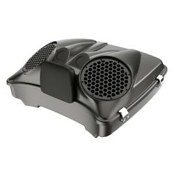 Silver Flux Dual 8and039and039 Speaker Lids Fits Advanblack/harley Razor Tour Pack Pak