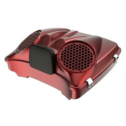 Hard Candy Hot Rod Red Flake Dual 8and039and039 Speaker Lid Fit Advanblack/harley Tour Pak