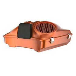 Amber Whiskey Dual 8and039and039 Speaker Lids Fits Advanblack/harley Razor Tour Pack Pak