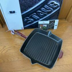 Staub Grill Pan 26 Cm Square Red New