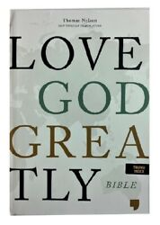 Thomas Nelson Net Love God Greatly Bible Pink Hc With Cover Indexed 9.5 Font