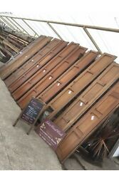 Set Of Antique Pitch Pine Panelling Wall Panels Job Lot Ornate Gothic