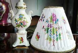 Herend Porcelain Handpainted Queen Victoria Lamp New Lampshade