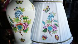 Herend Porcelain Handpainted Queen Victoria Xxl Large Lamp New Lampshade