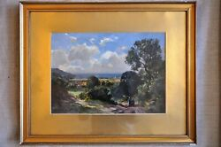 Alexander Carruthers Gould And039lynmouthand039 Oil On Board Antique Oil Painting