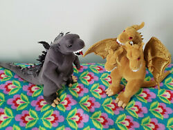Ty Beanie Babys Godzilla And King Ghidorah Plush Toys Tags Separate