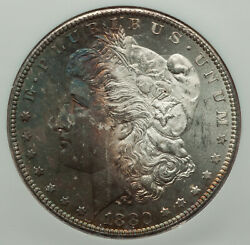 1880-s 1 Ngc Certified Morgan Silver Dollar Gem Quality Half Toned Ms65