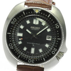 Seiko 6105-8110 Second Diver Antique Black Dial Automatic Menand039s Watch_598981